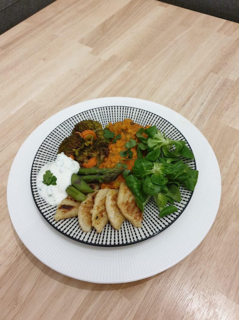 assiette de gnocchis et légumes