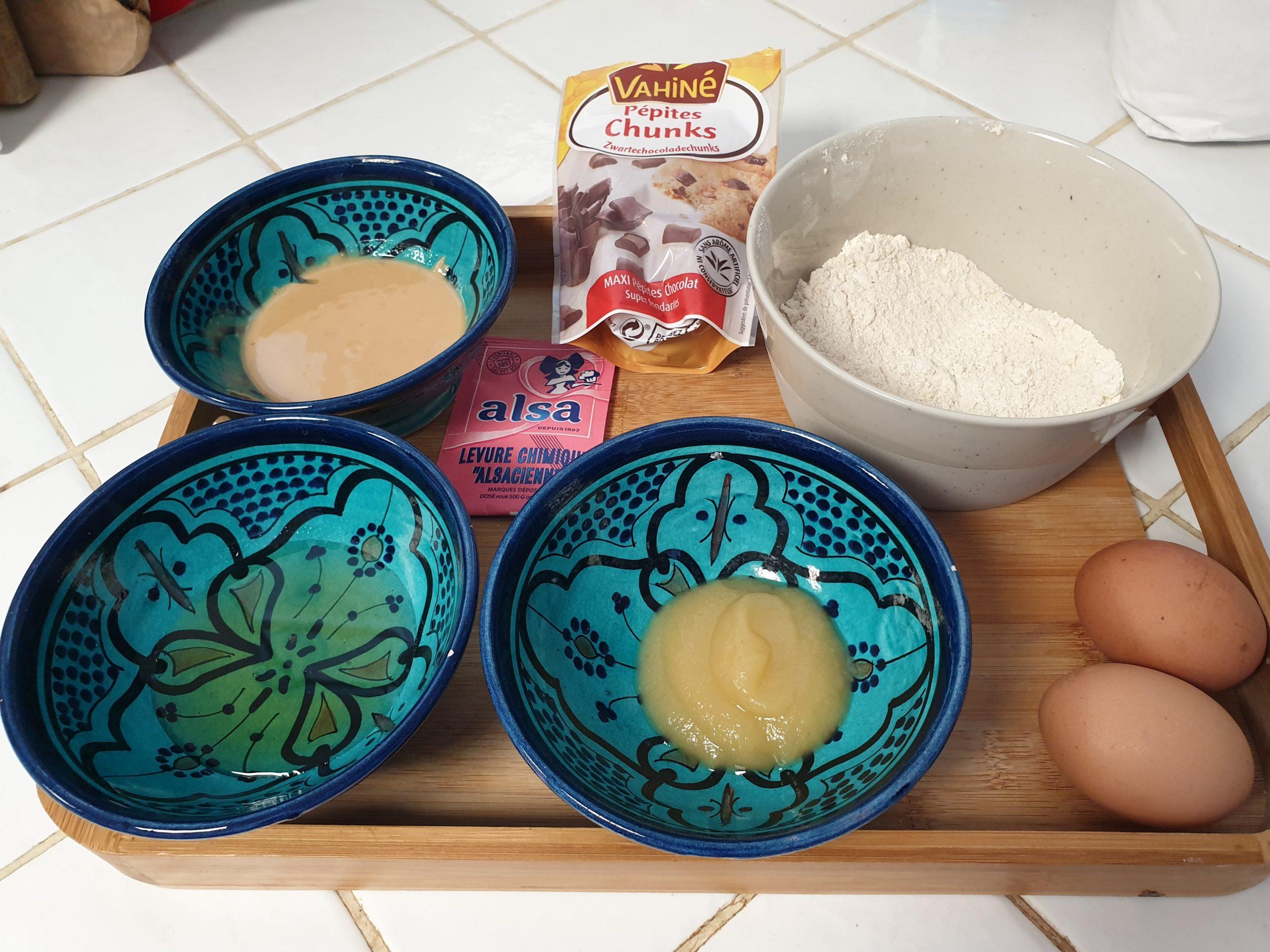 ingrédients muffins au beurre de cacahuète