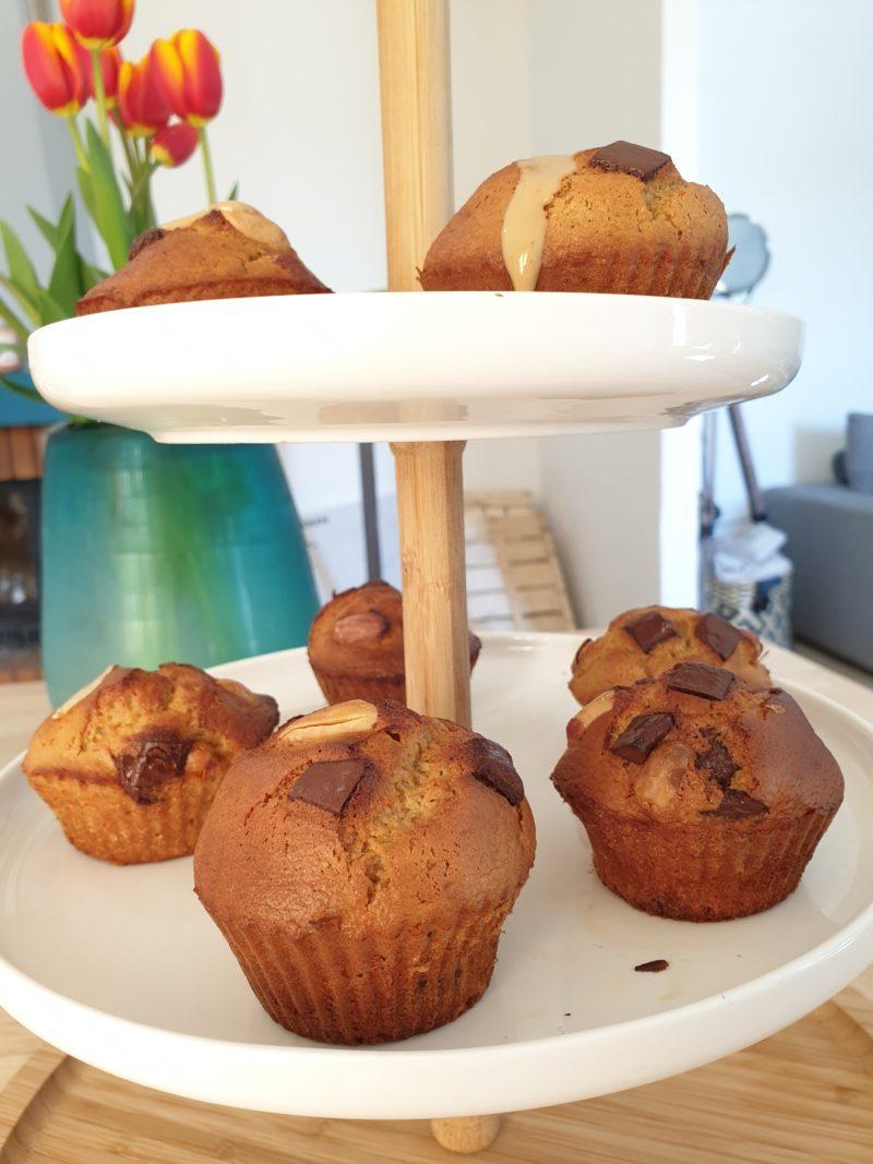 Muffin healthy au beurre de cacahuète