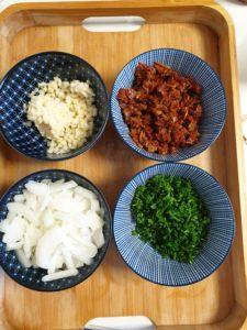 ingrédients lasagnes végétariennes