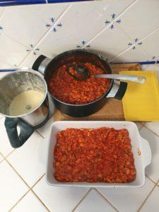 plat de lasagne végétariennes