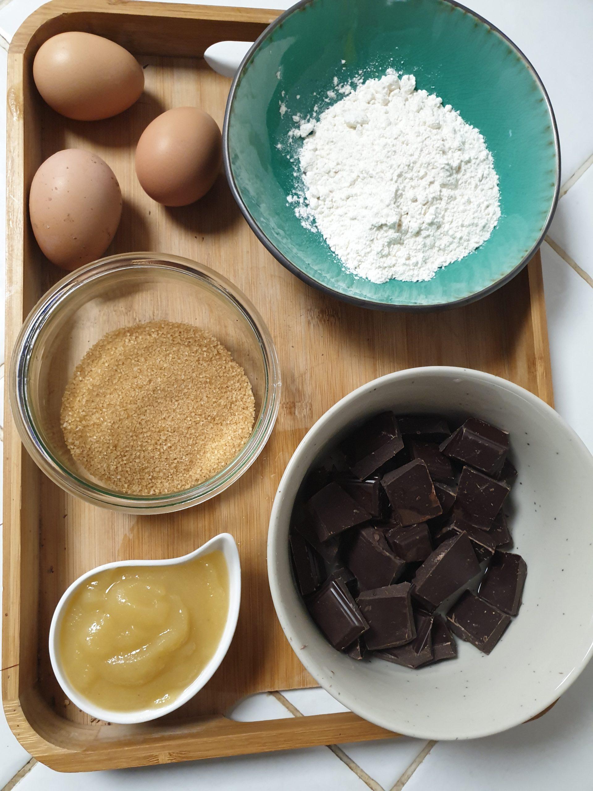 Ingrédients brownies moelleux