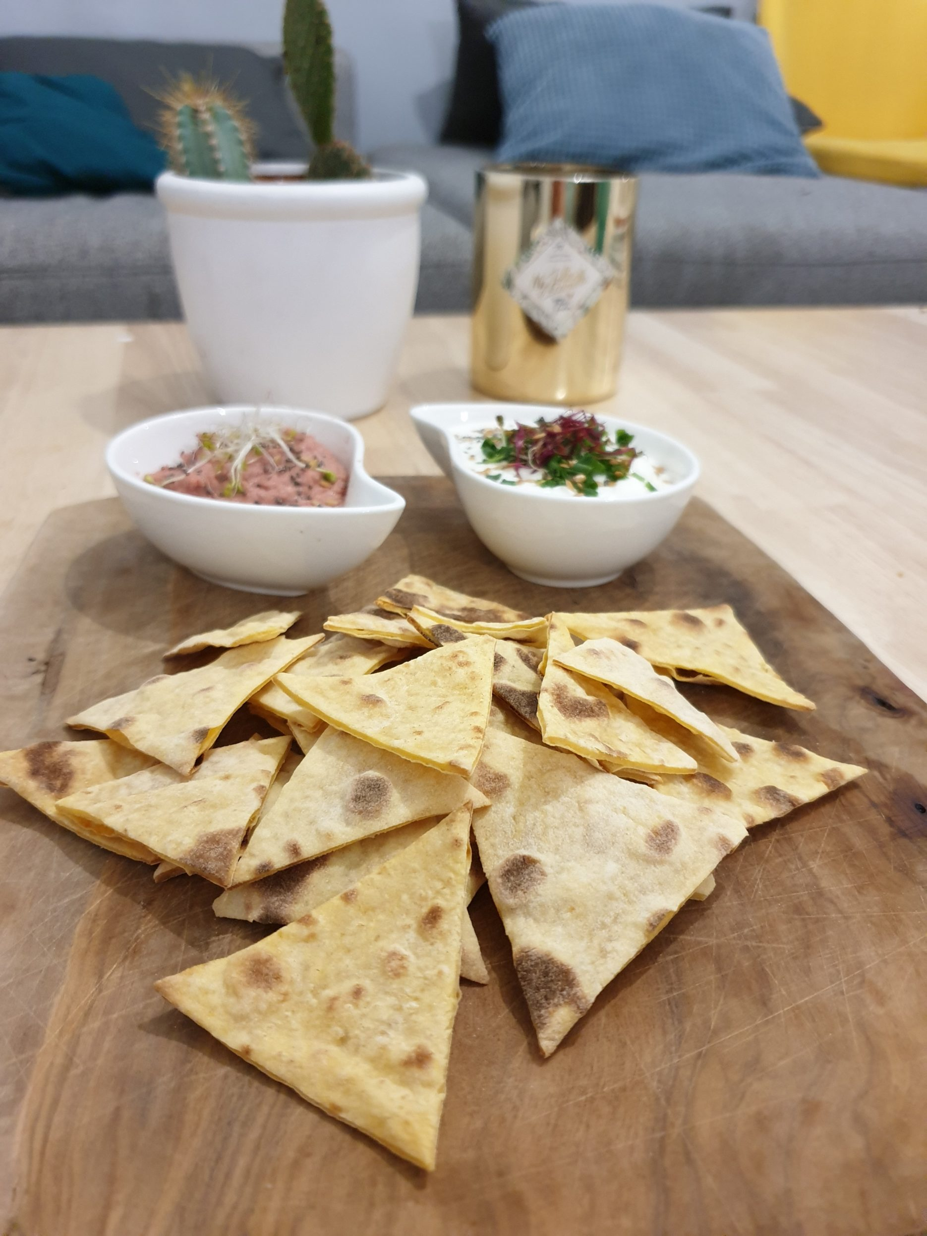 healthy nachos au four