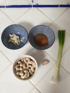 ingrédients formage vegan aux noix de cajou