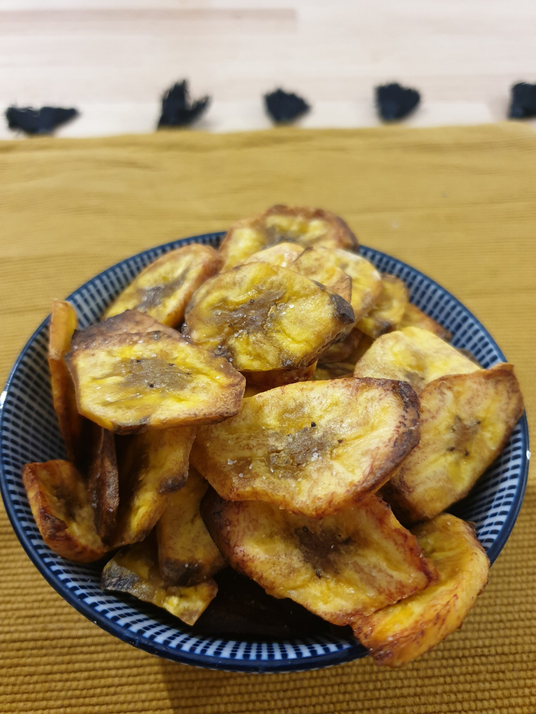 chips faciles de bananes plantain au four