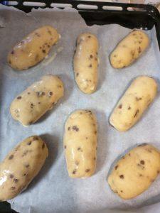 Cuisson brioches aux pépites de chocolat