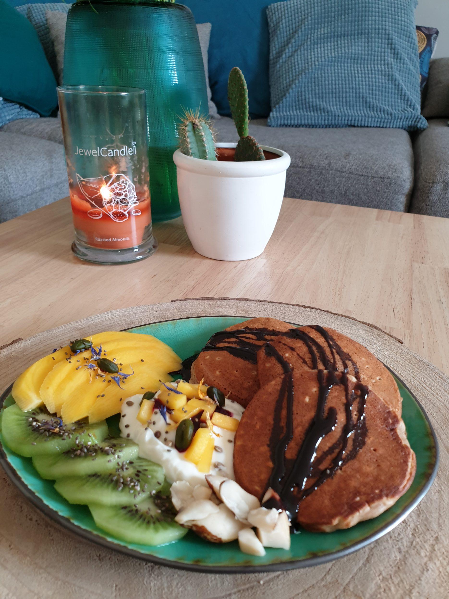 pancakes flocons d'avoine et sarrasin