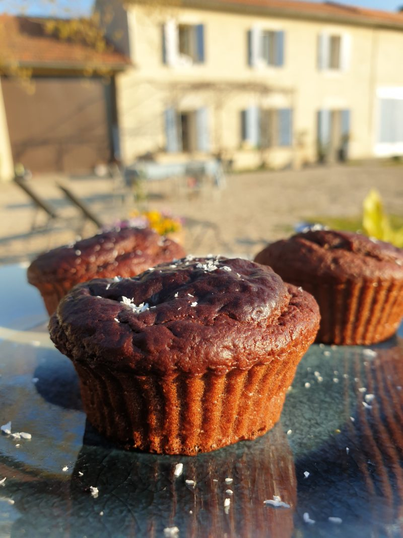muffin haricot rouge chocolat