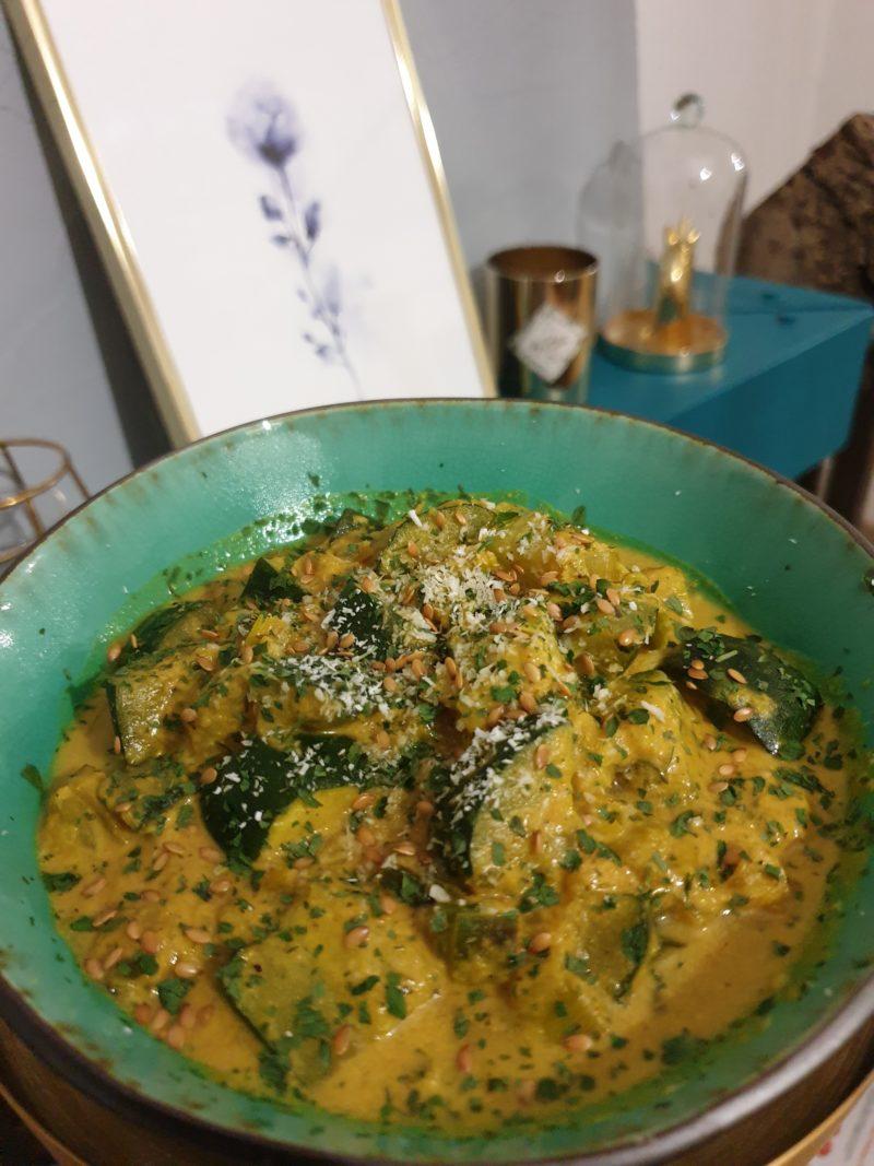 curry végétarien courgette facile