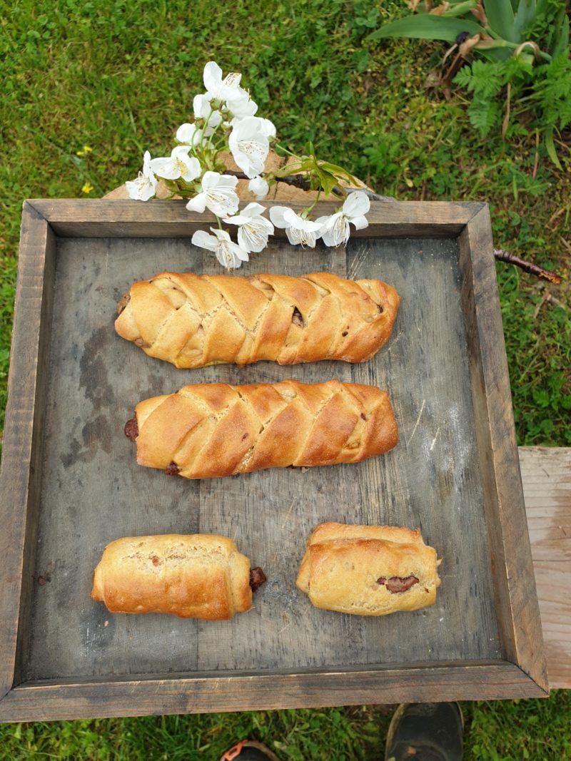 pain au chocolat brioché