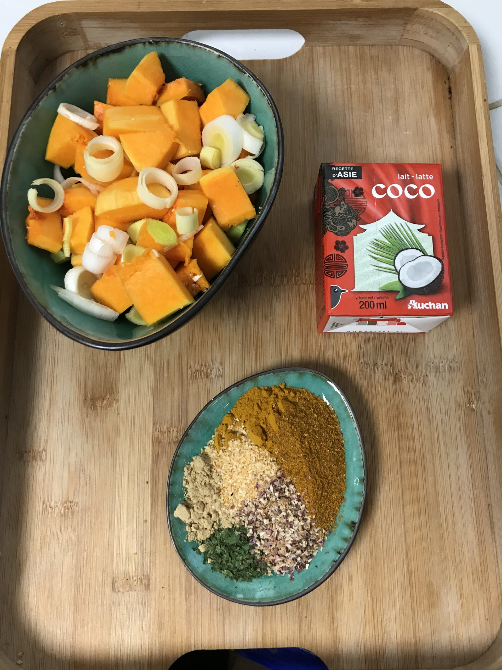 ingrédients curry végétarien