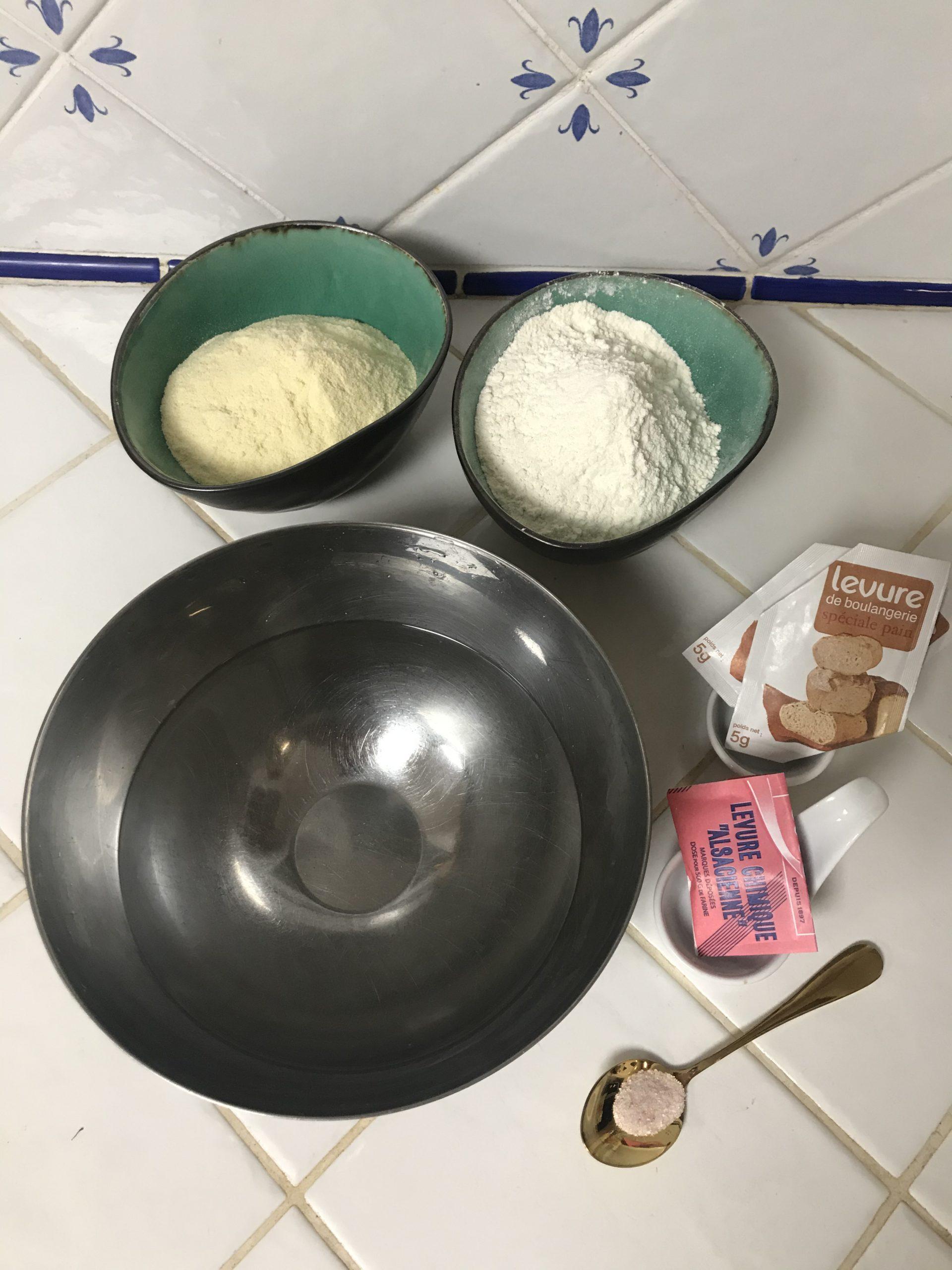 Ingrédients crêpes mille trous baghrirs