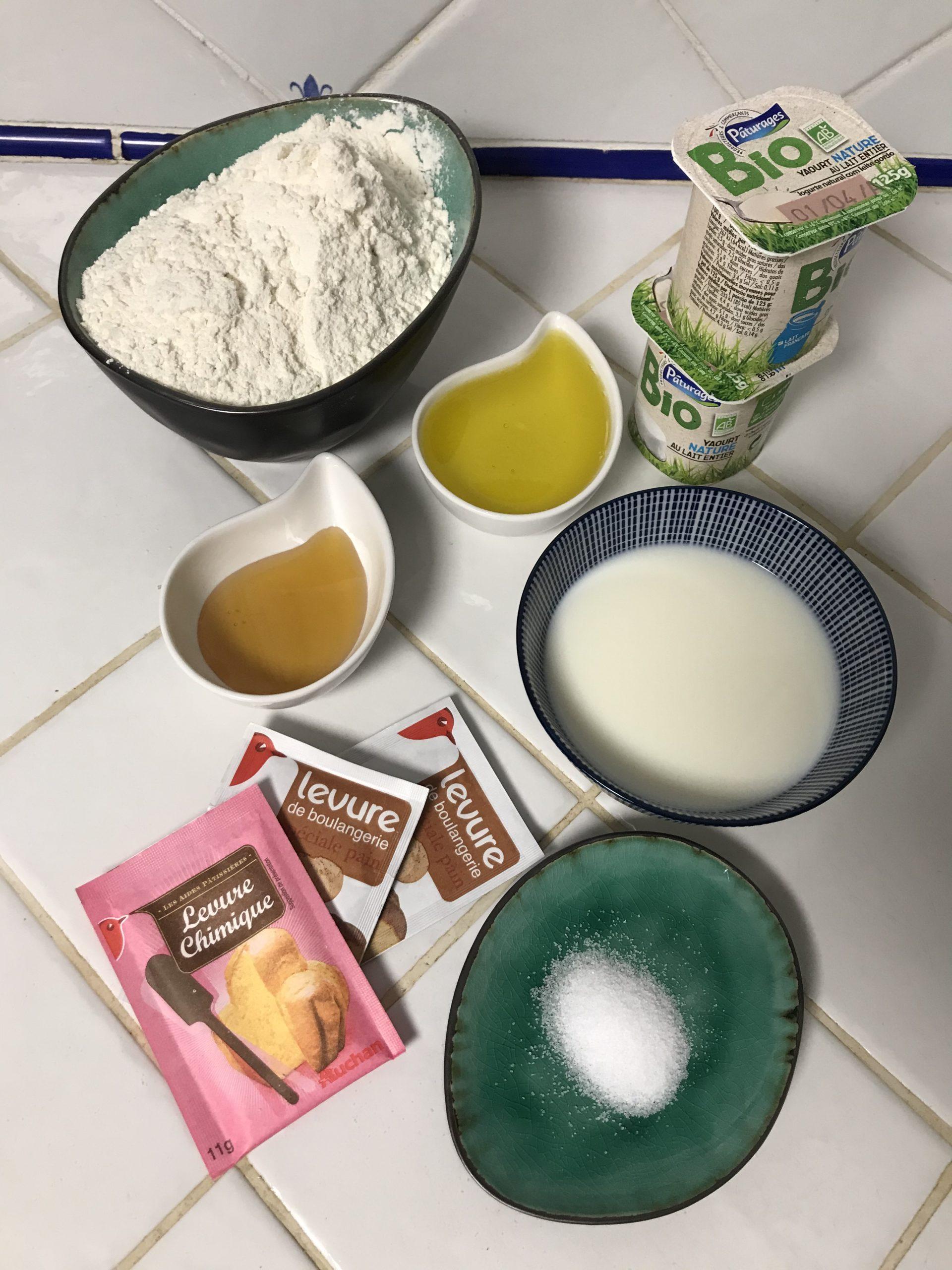 Ingrédients pain burger au yaourt buns