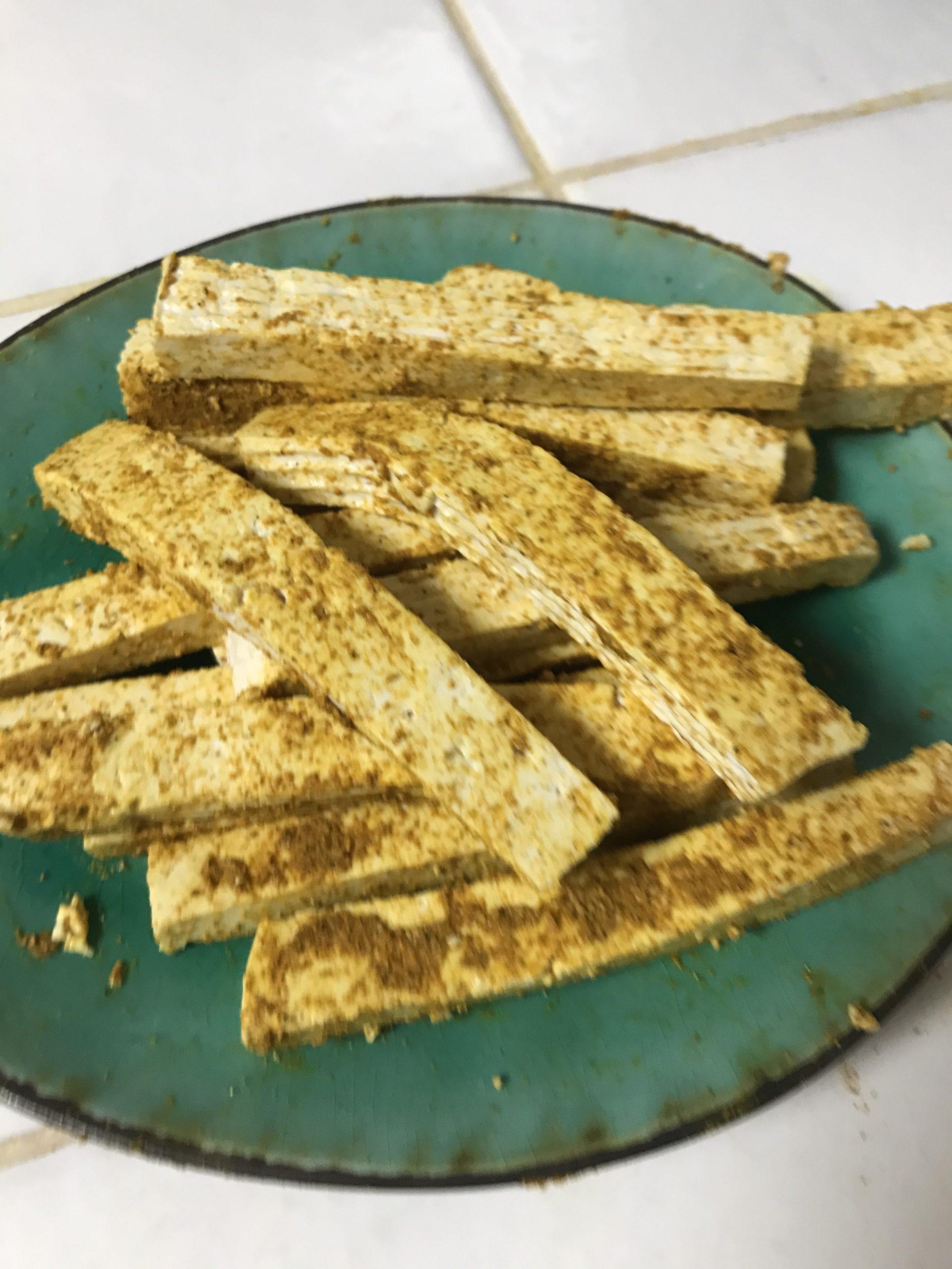 préparation dips de tofu