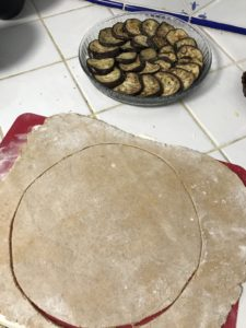 préparation tarte aubergines