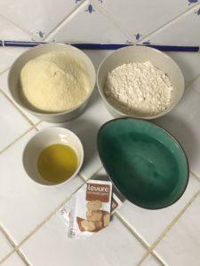 ingrédients pains à la semoule de blé dur