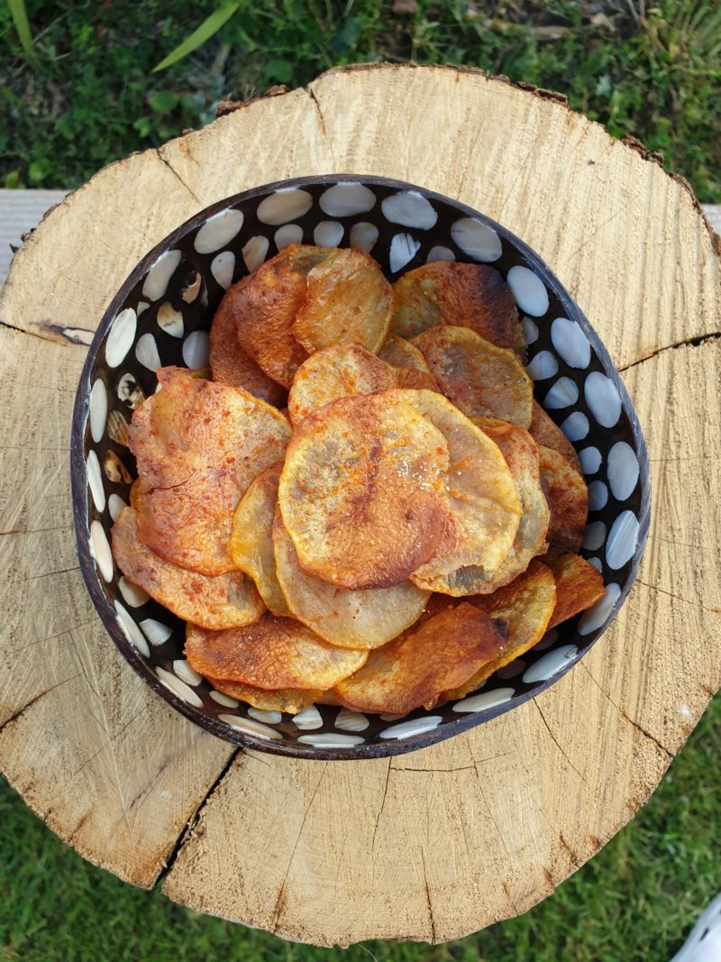 Chips maison sans friteuse