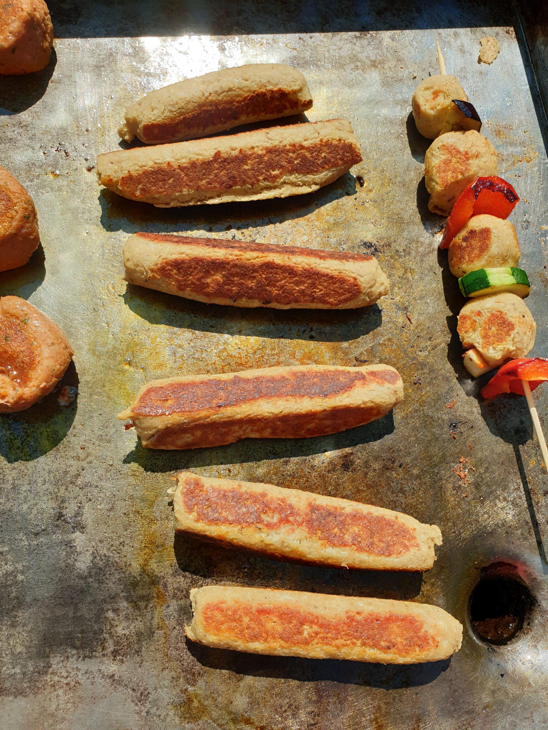 saucisse végétarienne au barbecue