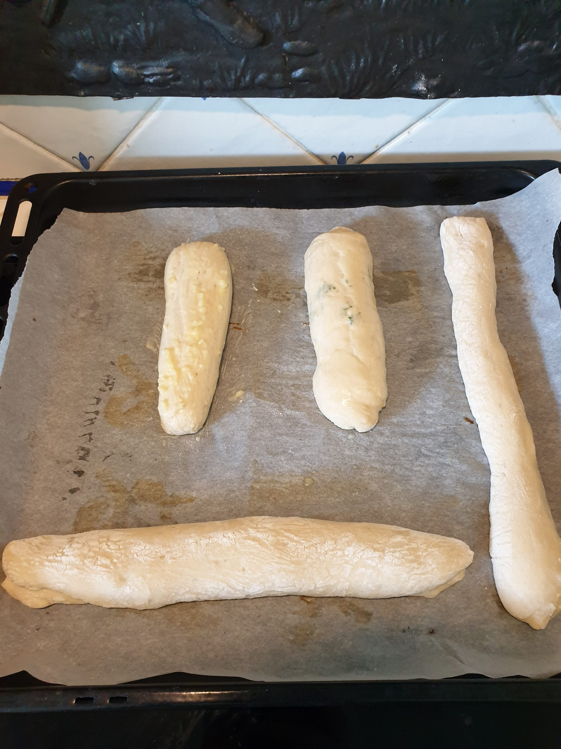baguettes de pain à l'ail