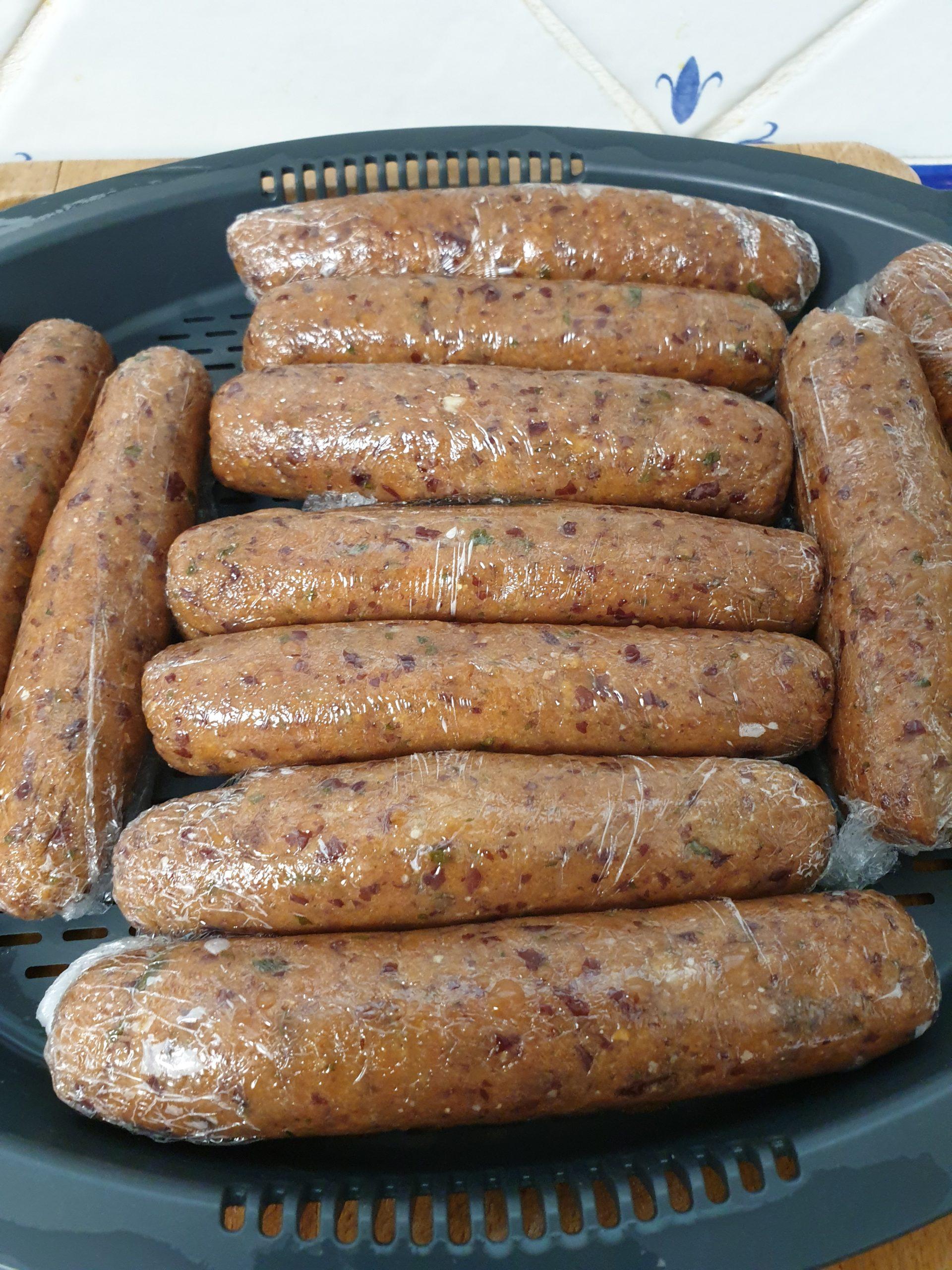 saucisses filmées pour cuisson vapeur