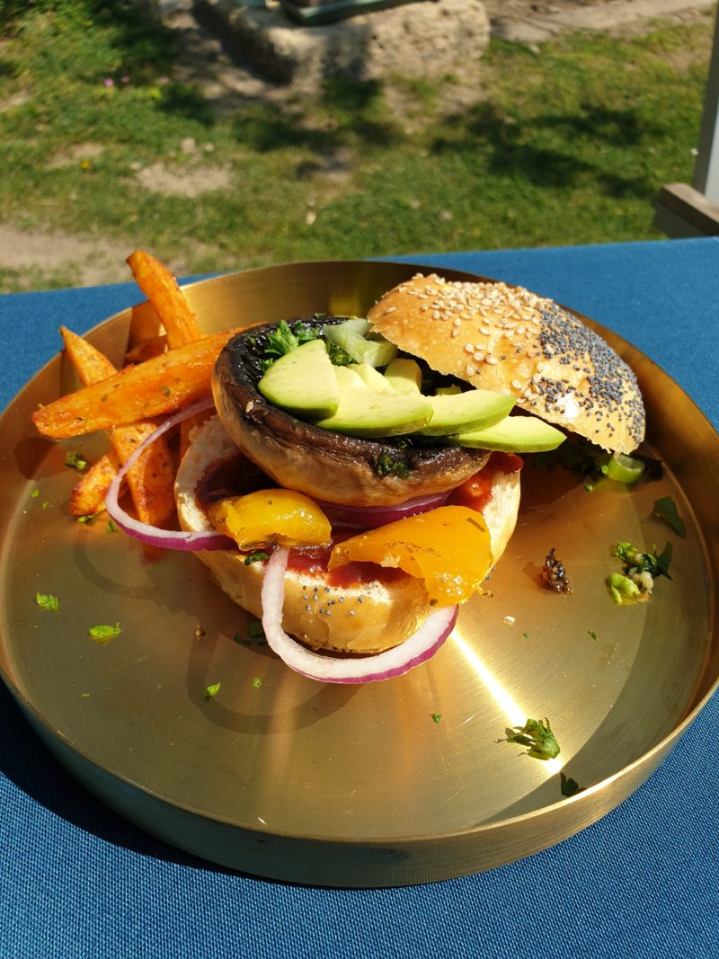 burger au champignon