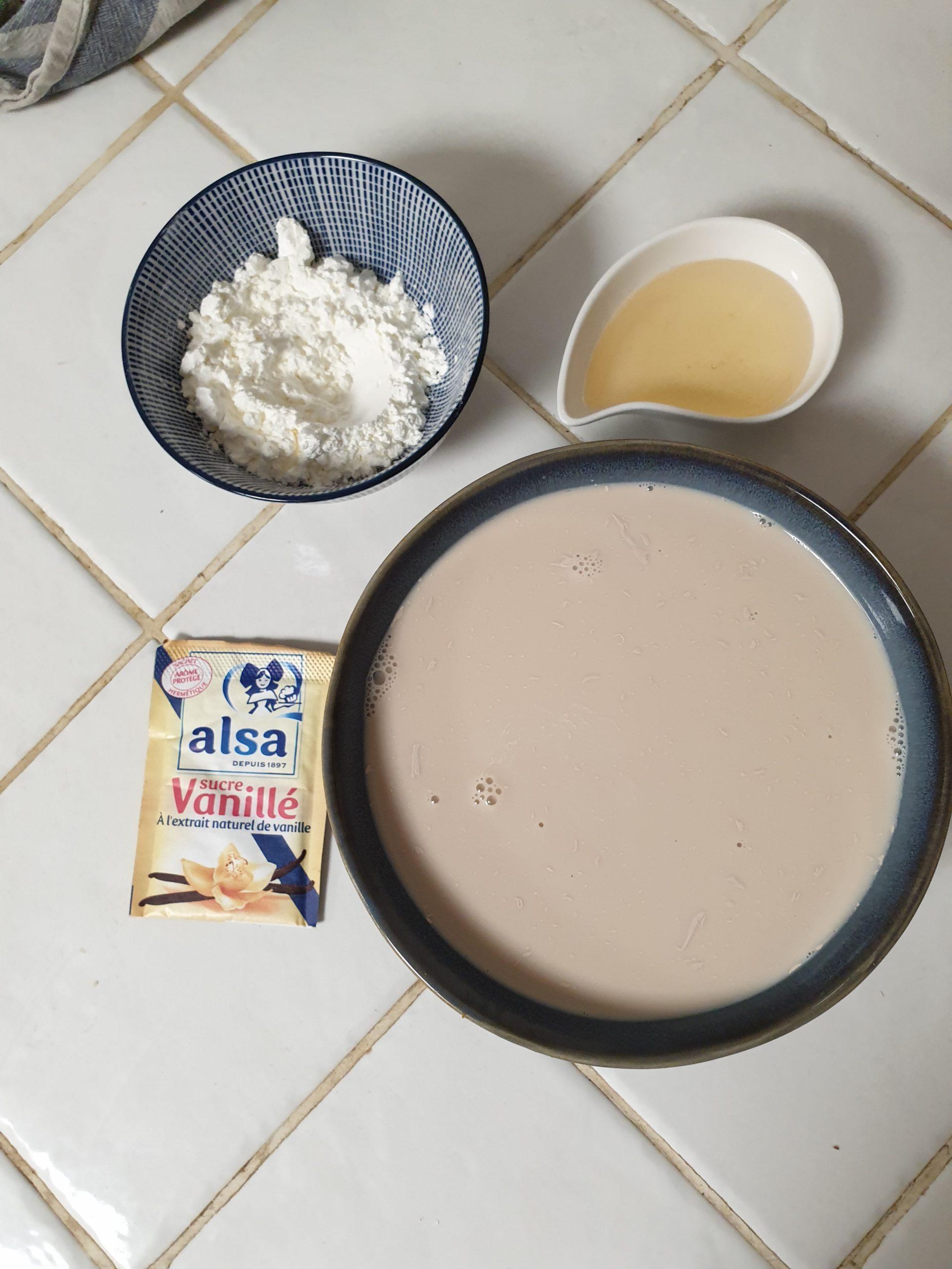 Ingrédients crème pâtissière healthy
