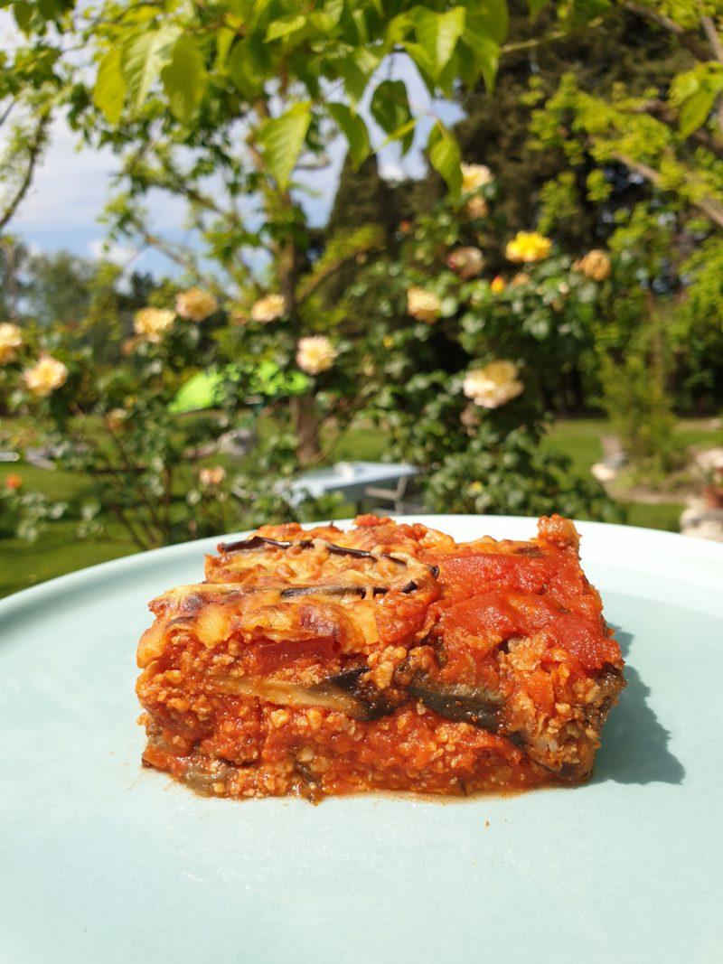 moussaka végétarienne aux protéines de soja