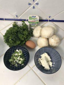 ingrédients champignons farcis