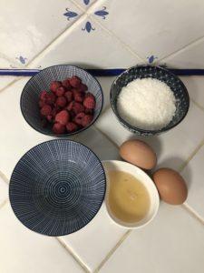 ingrédients bouchée coco framboise