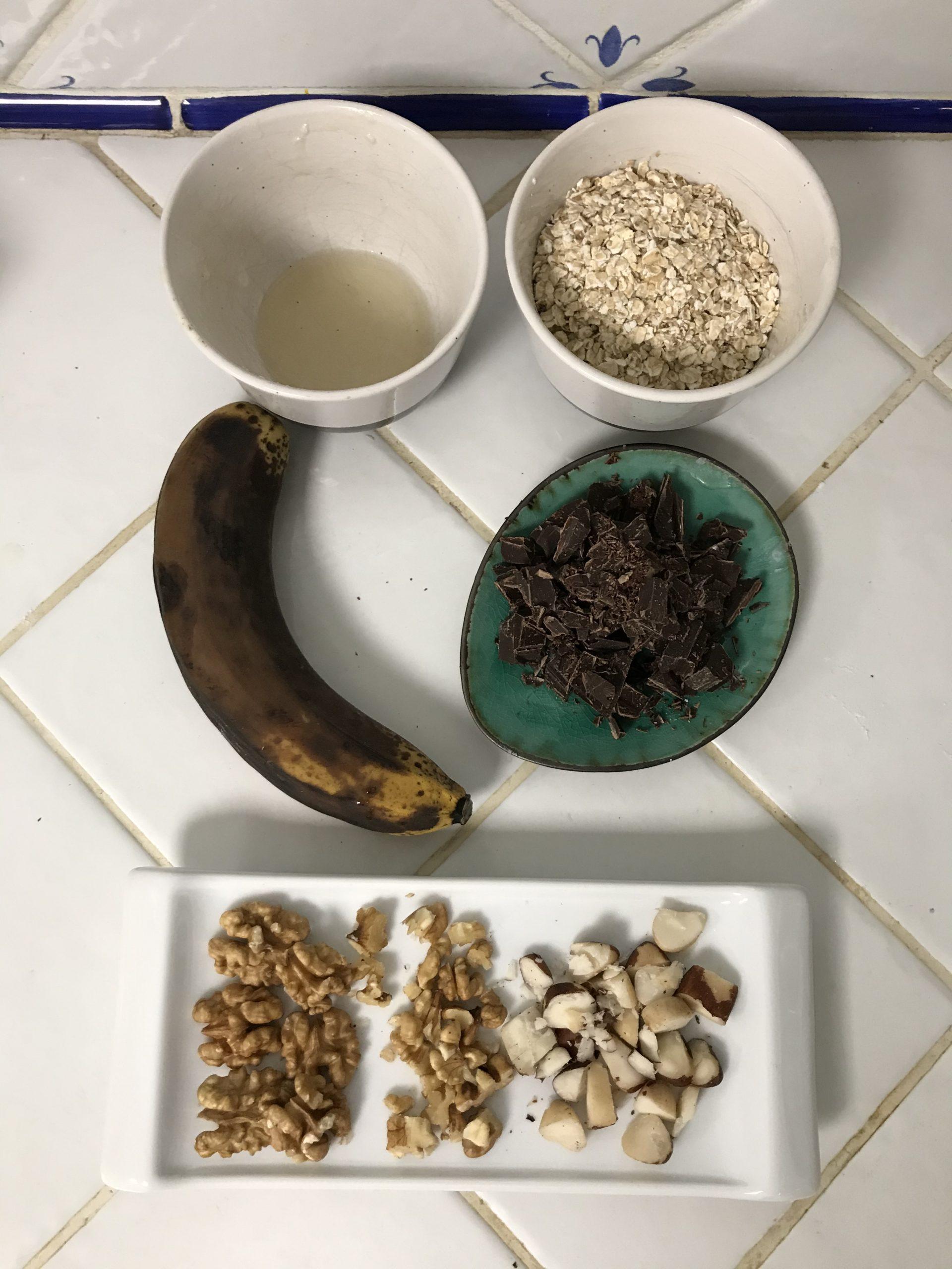 ingrédients cookies flocons d'avoine banane