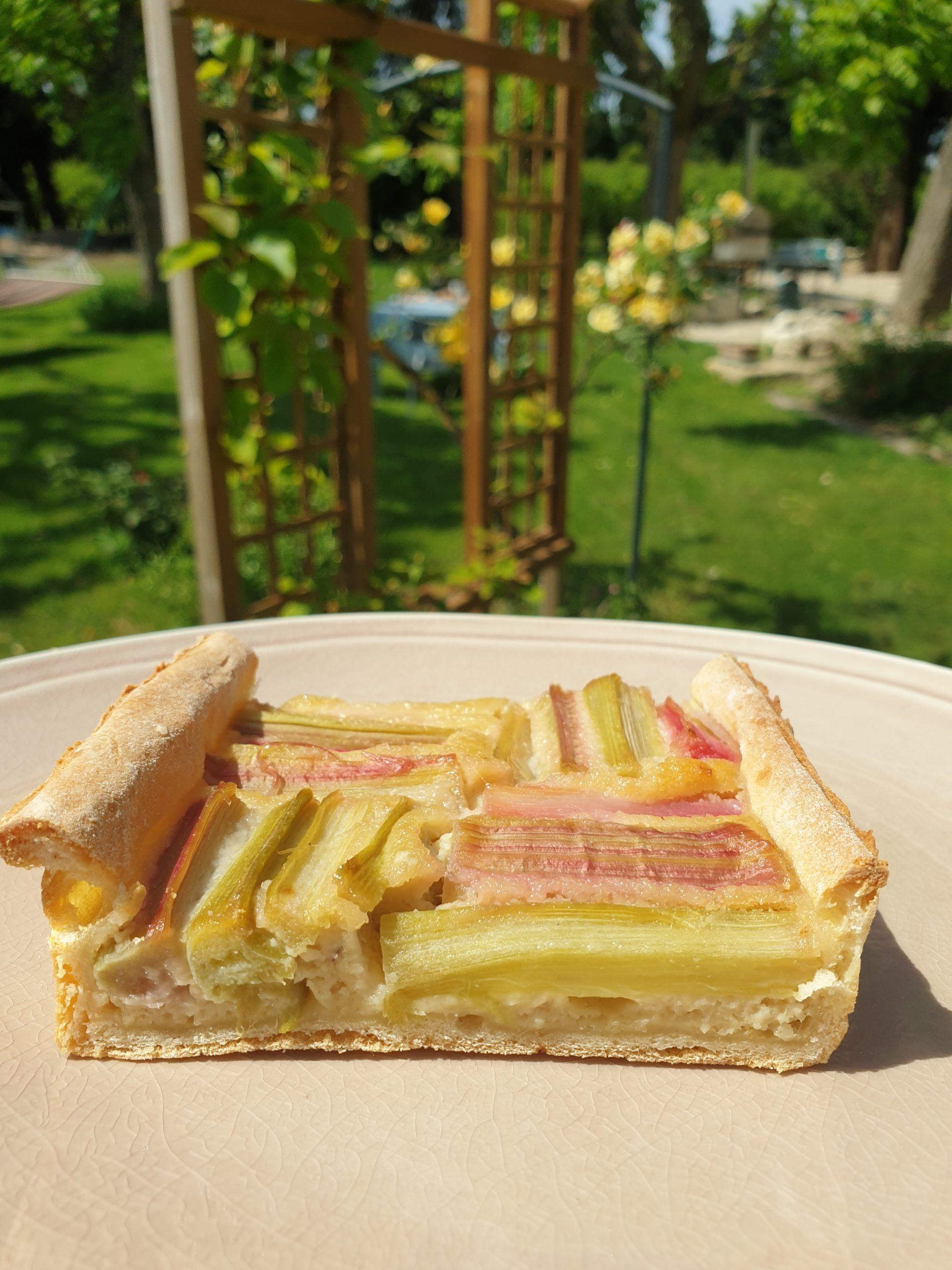 tarte light à la rhubarbe