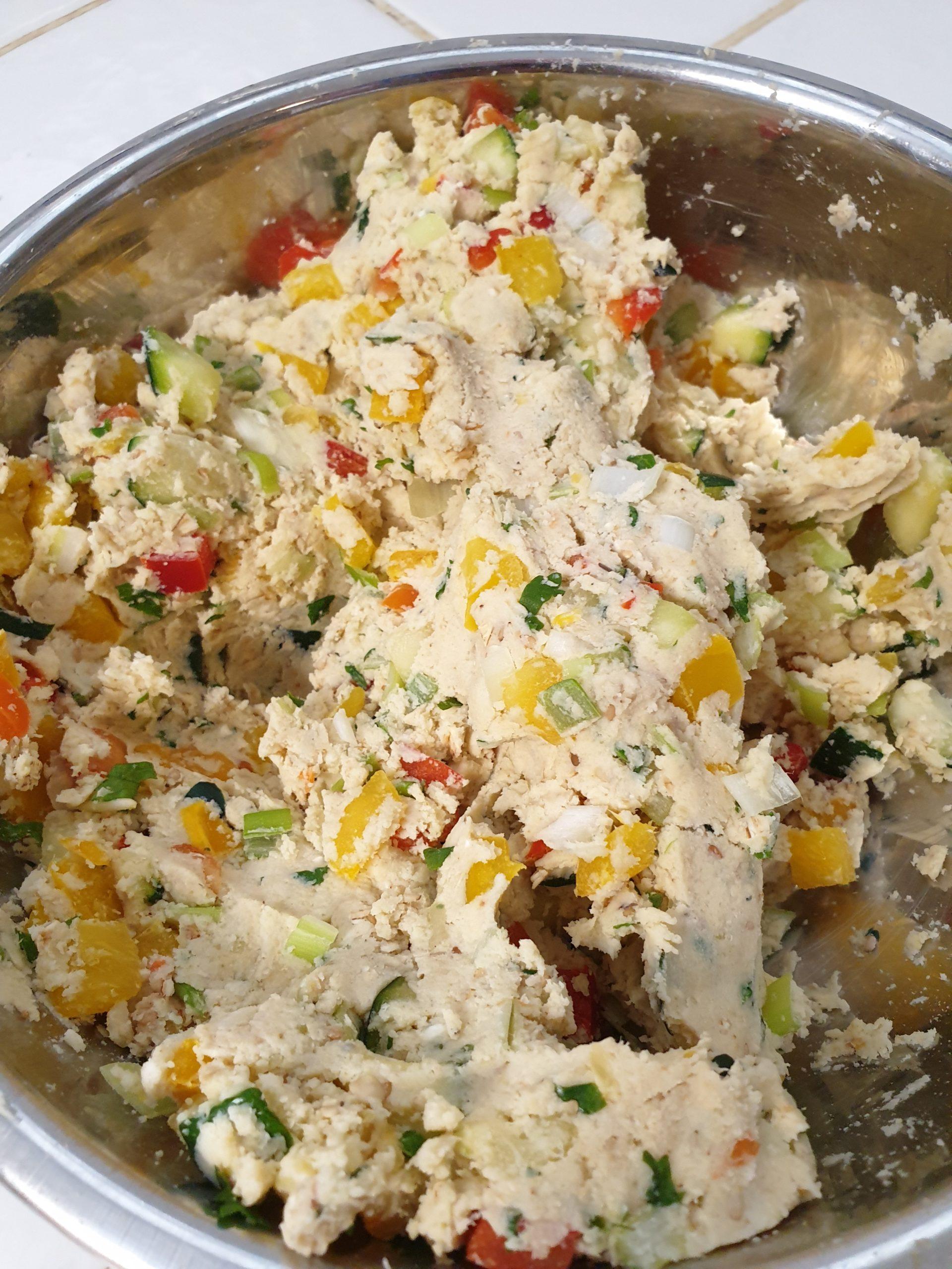 pâte des galettes de légumes