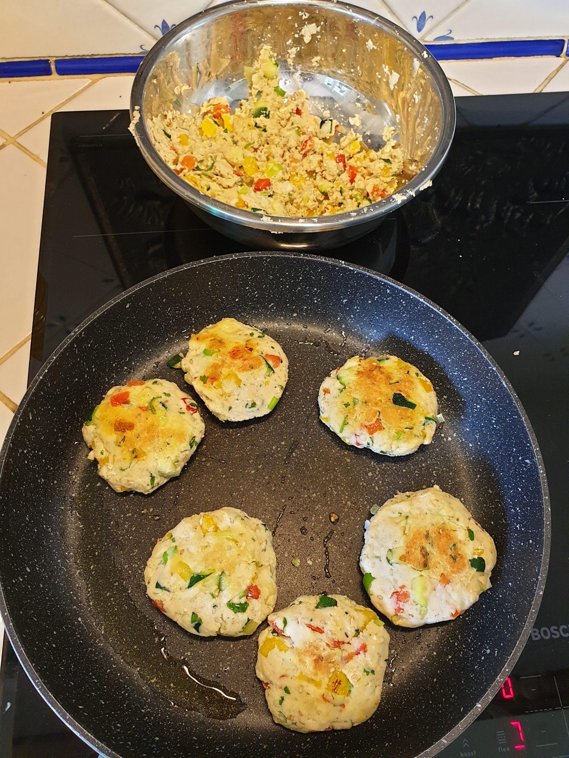 galettes de légumes vegan