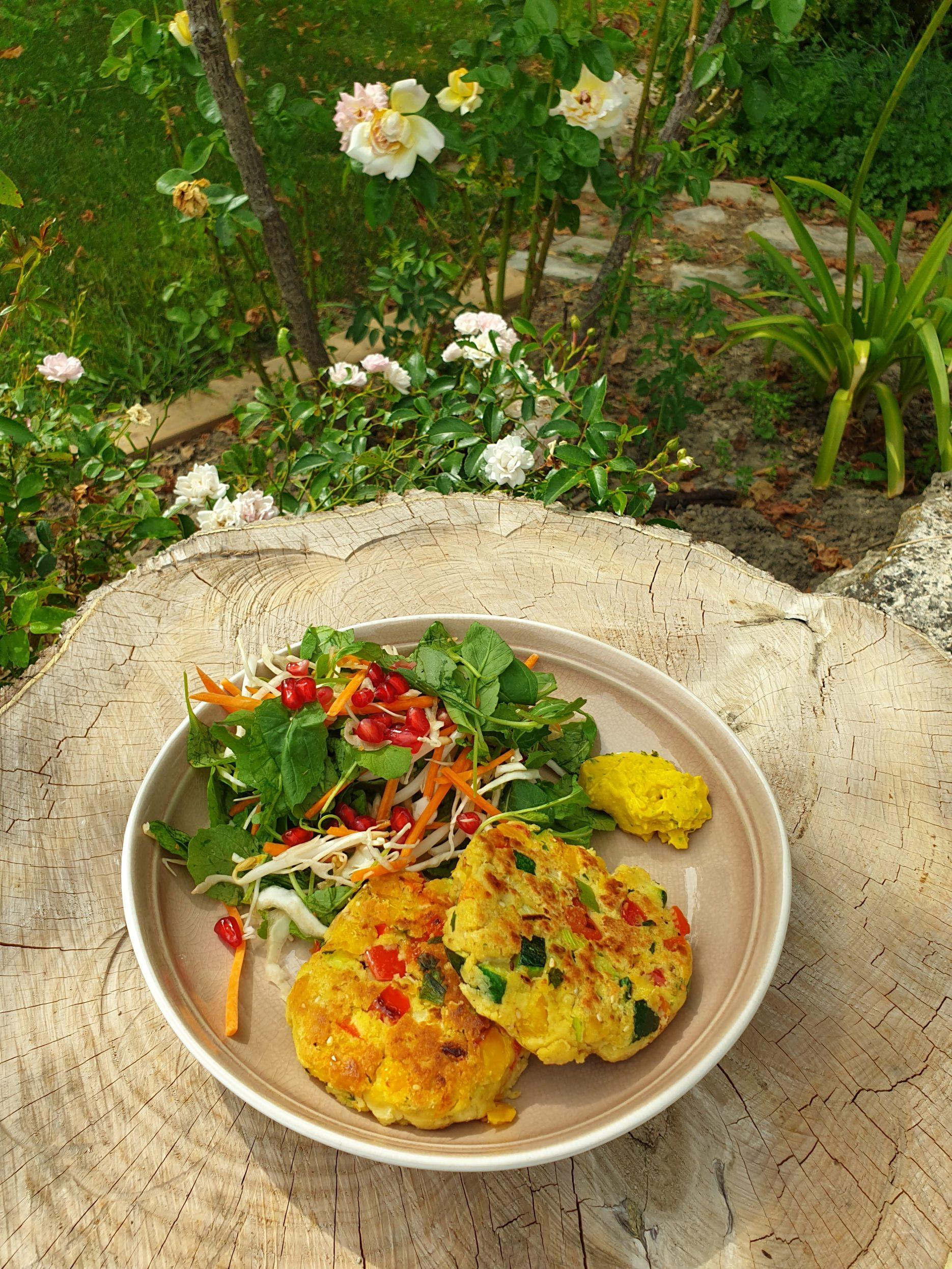galettes de légumes vegan okara