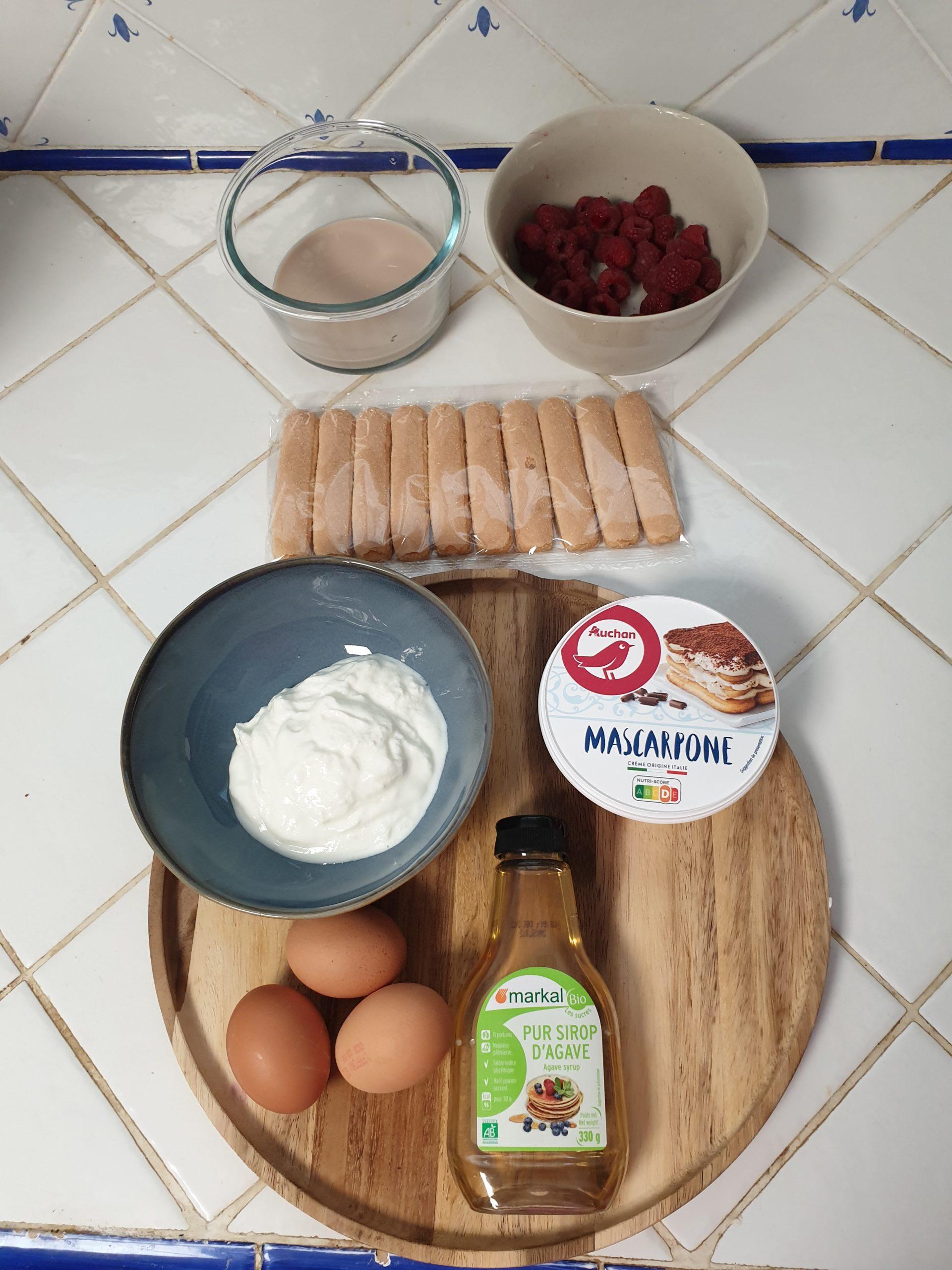 ingrédients tiramisu healthy