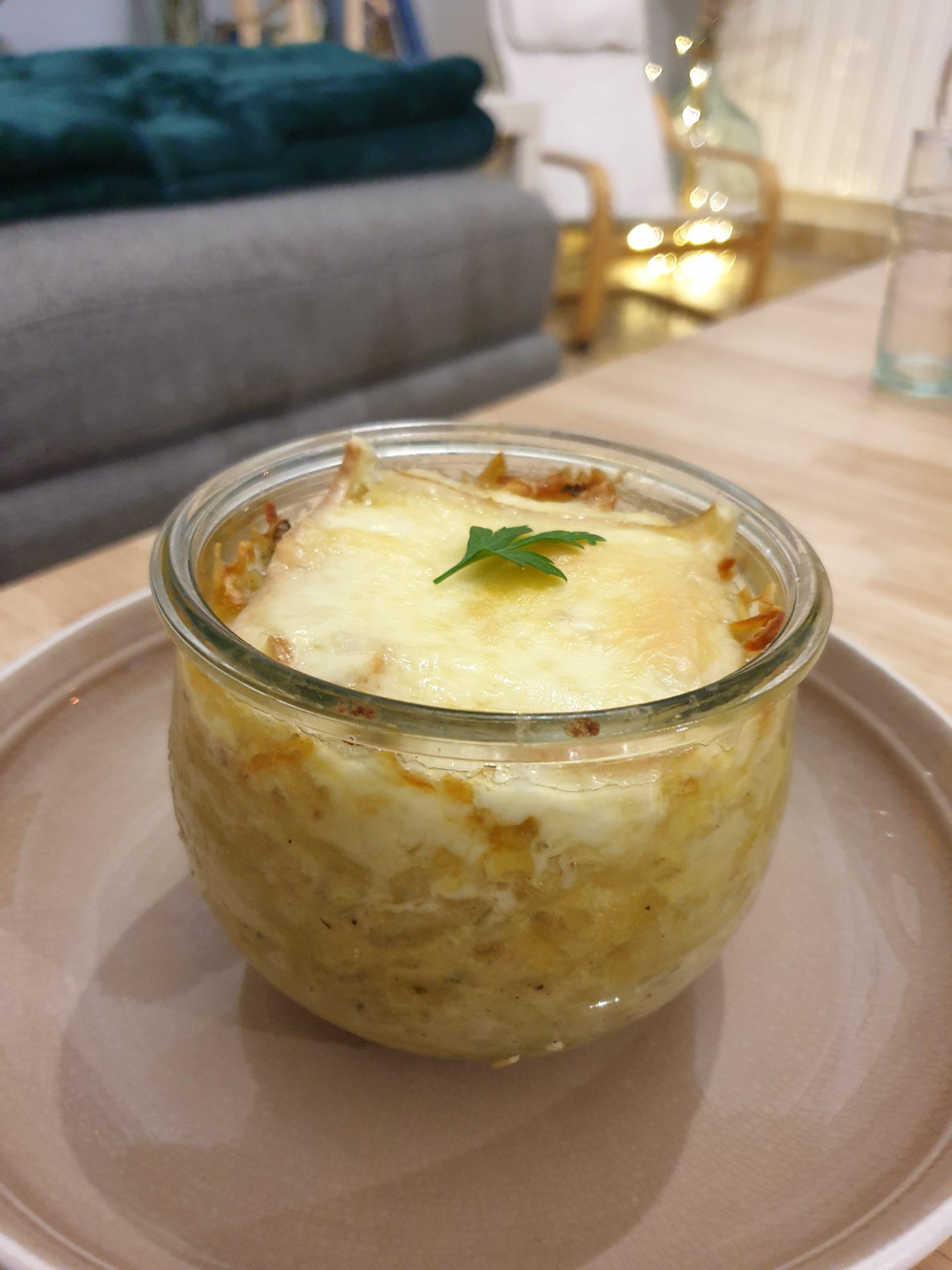 bocal pomme de terre et raclette